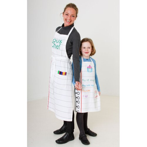 Doodle by Stitch Adult Cotton Apron and Fabric Pen Set