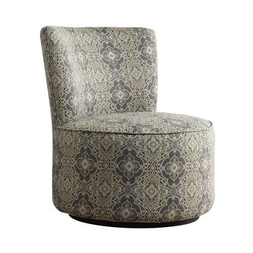Alfosa Damask Print Swivel Accent Chair