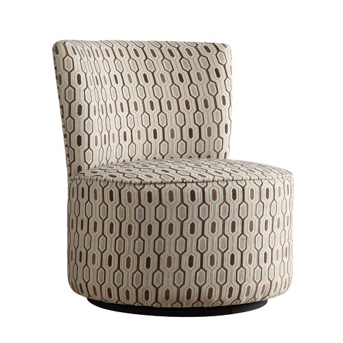 Alfosa Honeycomb Print Swivel Accent Chair