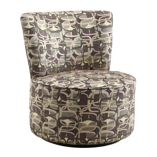 Alfosa Geometric Print Swivel Accent Chair