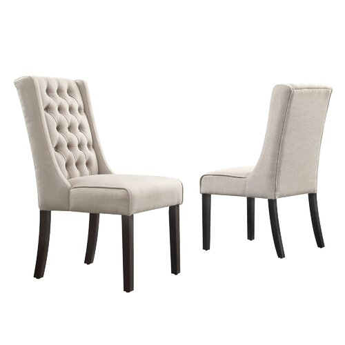 Leonora Tufted Back Parsons Chair (Set of 2)