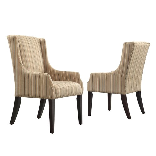 Mandala Stripe Print Sloped Arm Chair