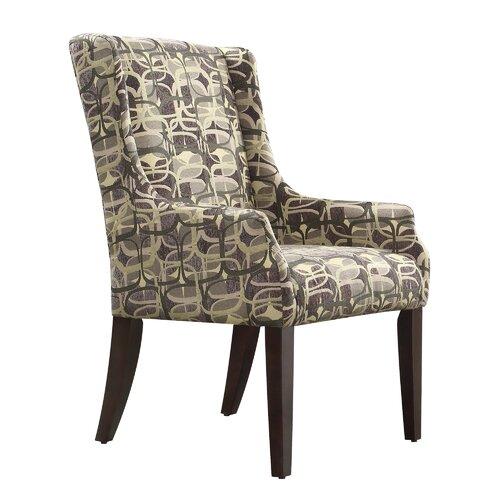 Mandala Mod Geometric Print Arm Chair