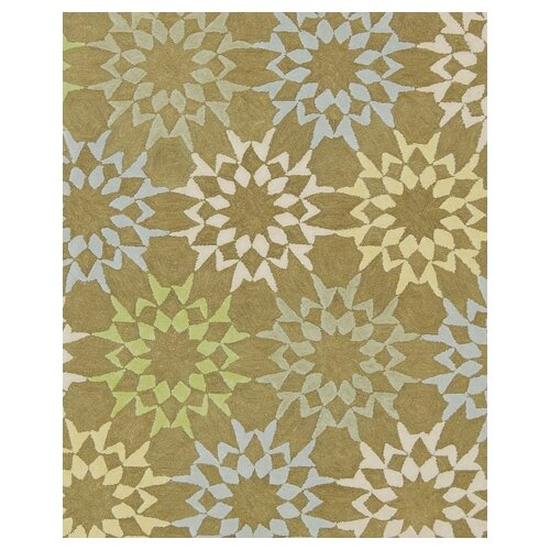 Floral Block Quilt Pebble Grey Rug