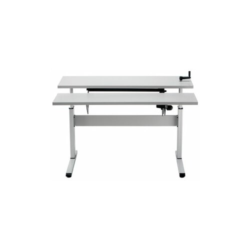 Equity Adjustable Corner Workstation with Keyboard Lift