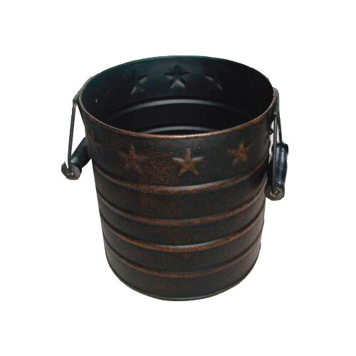 Star Tin Pail with Wooden Handle