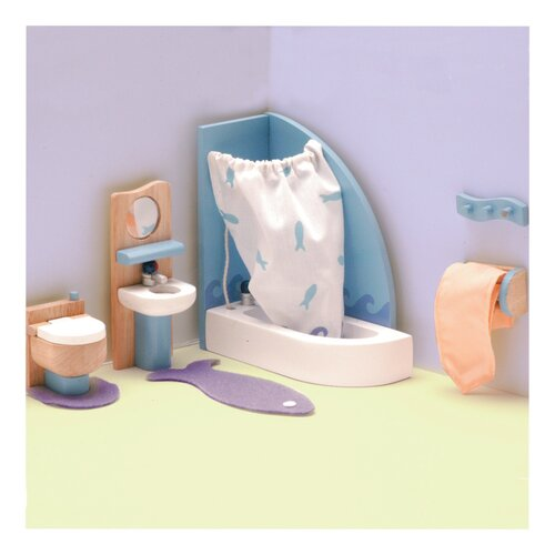 Le Toy Van Peppermint Powder Dollhouse Bathroom Set