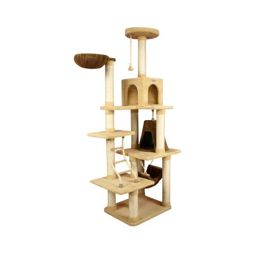 "Armarkat 78"" Ultra-Soft Premium Cat Tree in Golden Rod"