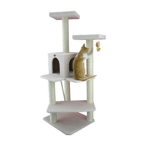 "Armarkat 57"" Classic Cat Tree in Ivory"