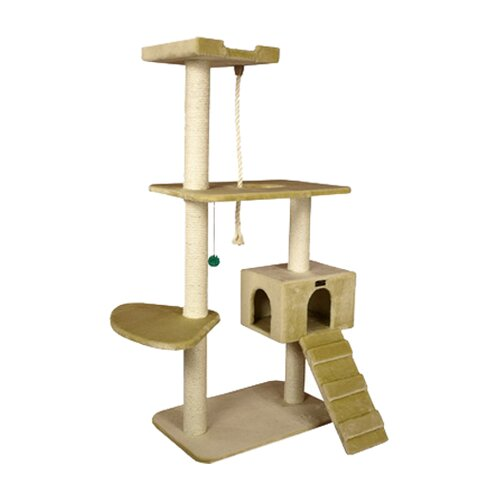 "Armarkat 58"" Classic Cat Tree in Beige"