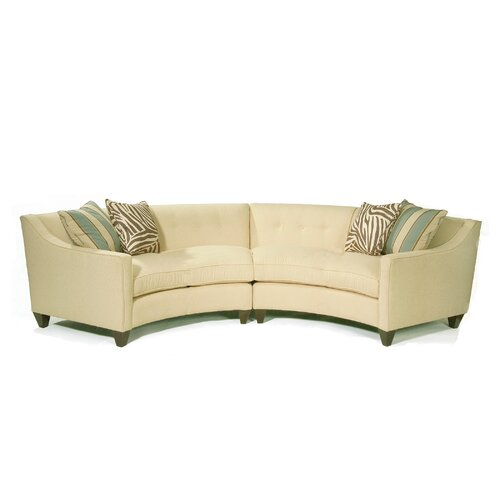 Curved Sectional in Milan Vanilla | Wayfair