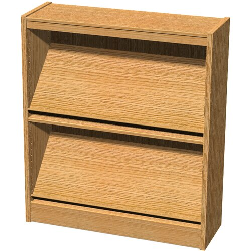 Stately Series Oak Single Face Periodical Starter Shelf Bookcase
