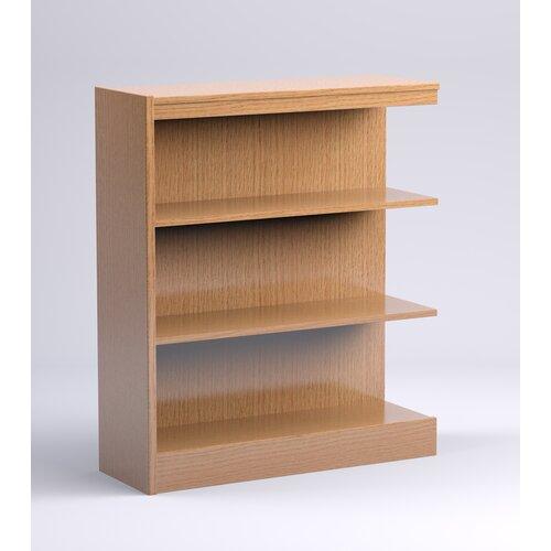 Stately Series Oak Single Face Shelf Bookcase