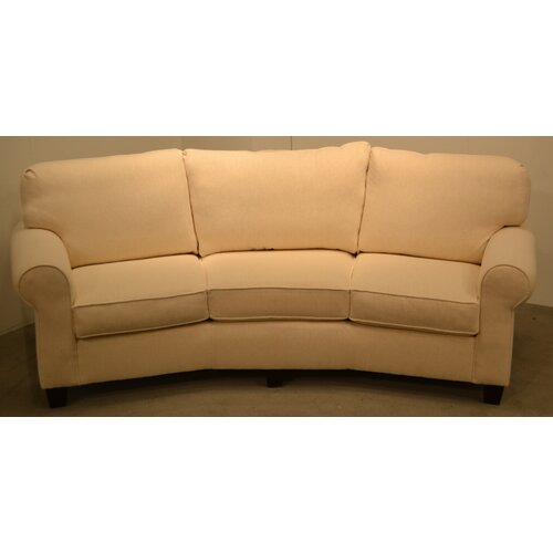 Kiln dried solid wood sofa wayfair for Conversation sofa