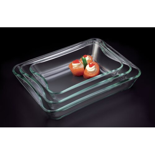 Exclusive 3-Piece Borosilicate Glass Casserole Set
