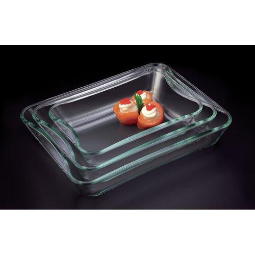 Exclusive 3-Piece Borosilicate Glass Casserole Set