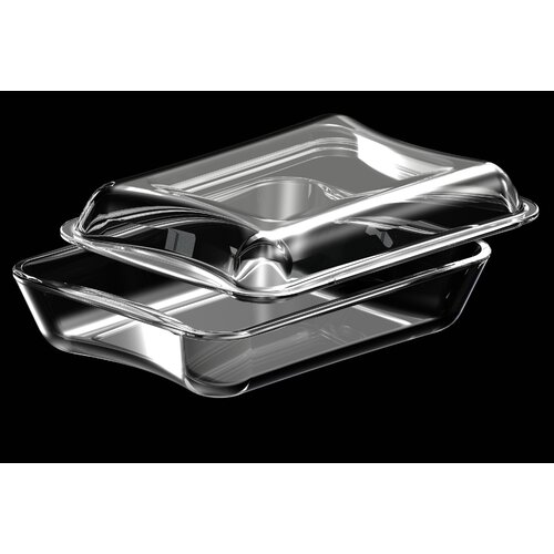 2.6-qt. Borosilicate Glass Rectangular Casserole