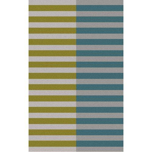Double Stripe Moss Rug