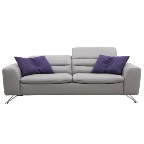 Modern leather living room furniture - Muse By Htl Leather Sofa Amp Reviews Wayfair