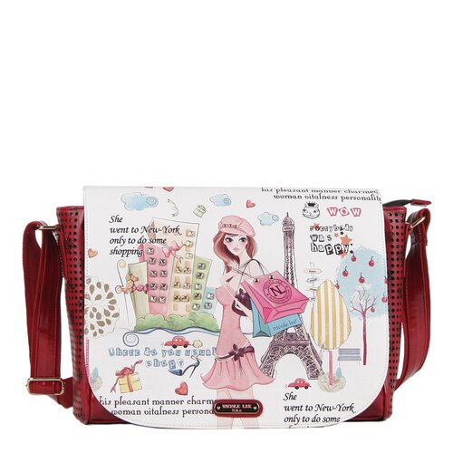 Shopping Girl Print Messenger Bag