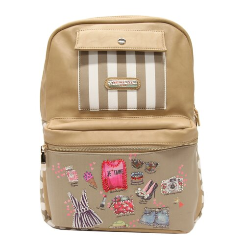 Sybil Dollhouse Striped Print Backpack