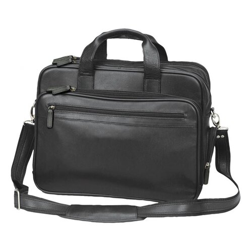 Scan Express Cowhide Leather Laptop Briefcase