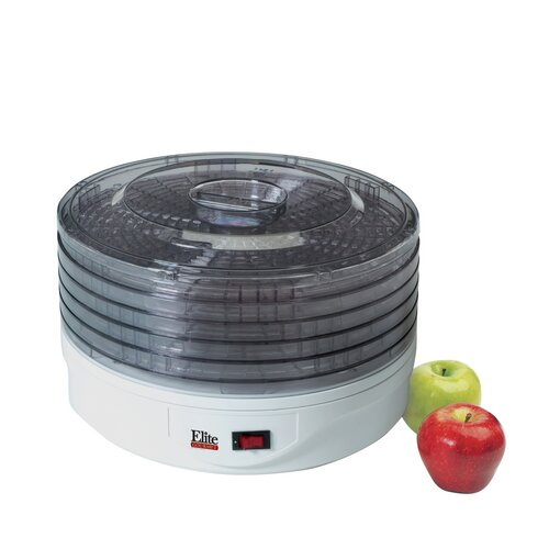 Elite by Maxi-Matic Gourmet 5 Tray Rotating Food Dehydrator