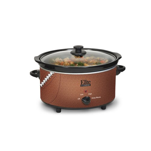 Cuisine 6-Quart Football Slow Cooker