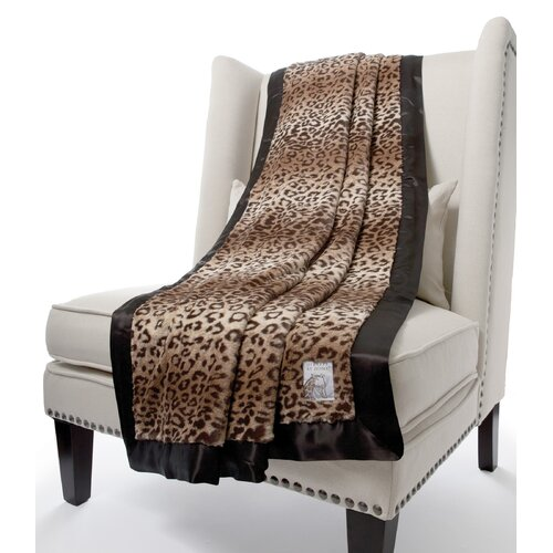 Luxe Leopard Fabric Throw