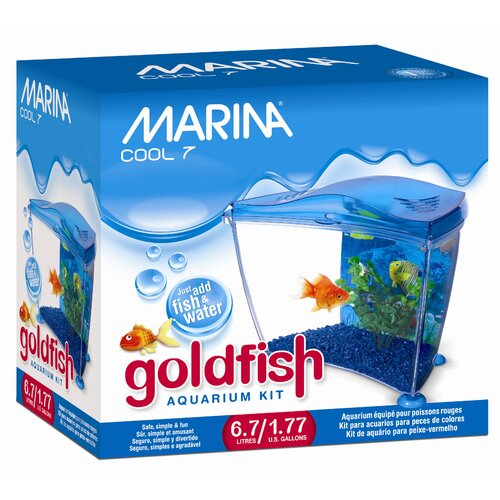 Marina by Hagen Marina 1.77 Gallon Cool Seven Goldfish Aquarium Kit