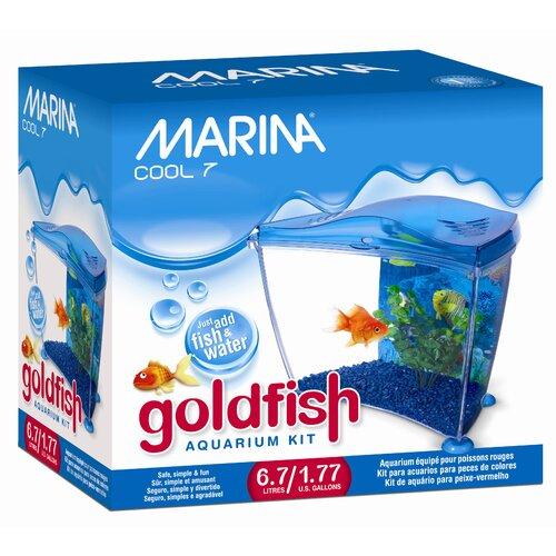 Marina by Hagen Marina 1.77 Gallon Cool Seven Goldfish Aquarium Kit