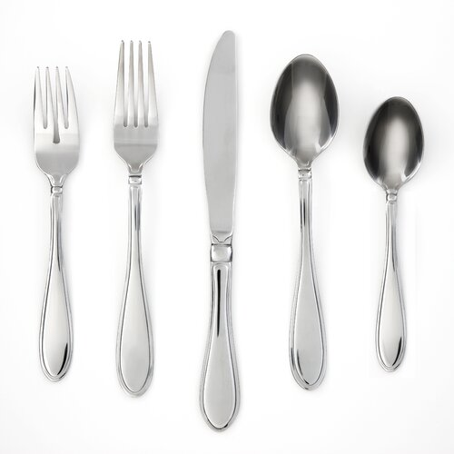 Evanston Mirror 45 Piece Flatware Set