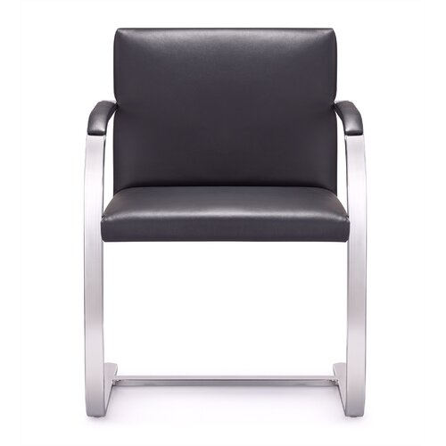 Arlo Mid-Back Leather Chair with Arms
