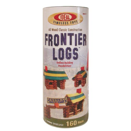Ideal Classics 160 Piece Frontier Logs Building Set in Canister