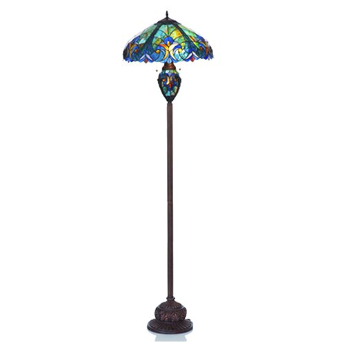 river of goods stained glass halston double lit floor lamp reviews. Black Bedroom Furniture Sets. Home Design Ideas