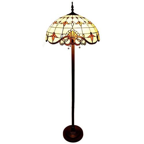 river of goods allistar stained glass floor lamp. Black Bedroom Furniture Sets. Home Design Ideas