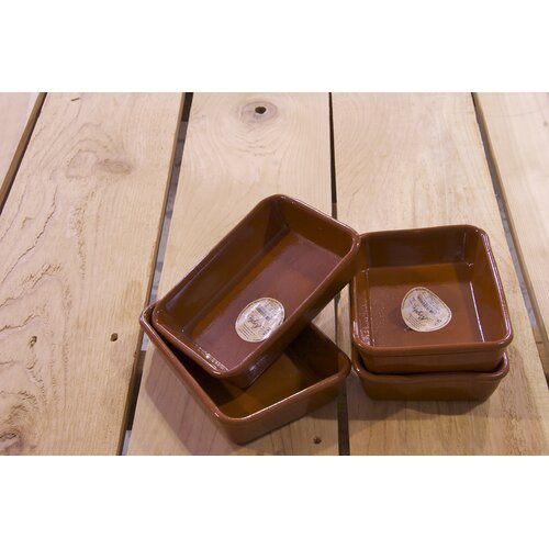 4 Piece Small Terracotta Oven Tray Set