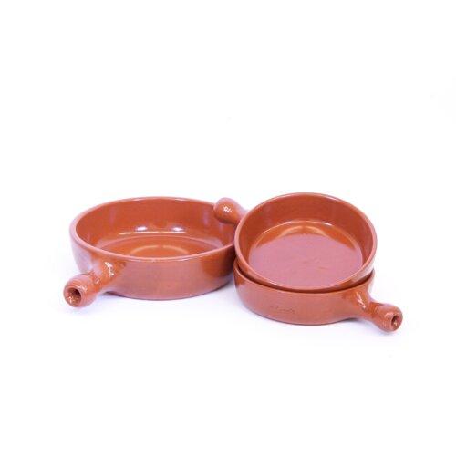 3 Piece Small Terracotta Frying Pan Set