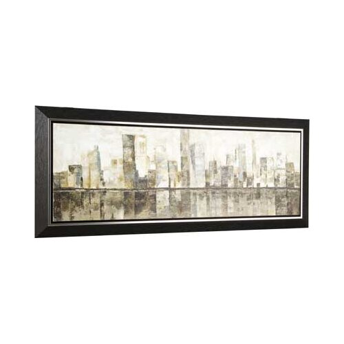 City Reflection by Tina O. Framed Painting Print