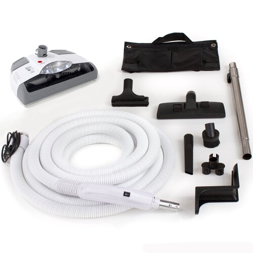 Central Vacuum Kit with Power Head, Hose and Tools for Beam Electrolux Nutone Hayden Fits ...