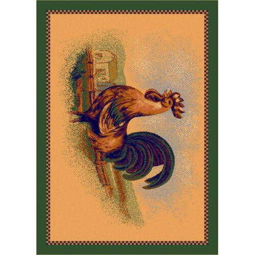 Fall Seasonal Rise and Shine Rooster Novelty Rug