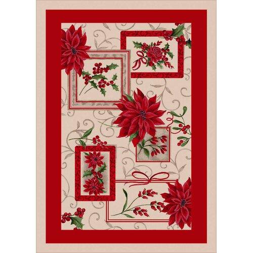 Milliken Winter Seasonal Holiday Winter Bouquet Novelty Rug