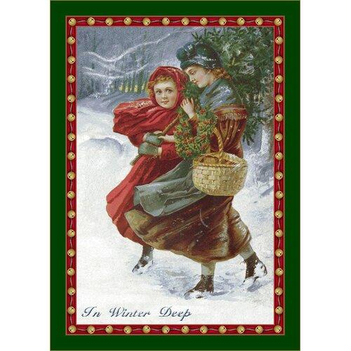 Milliken Winter Seasonal Holiday in Winter Deep Novelty Rug