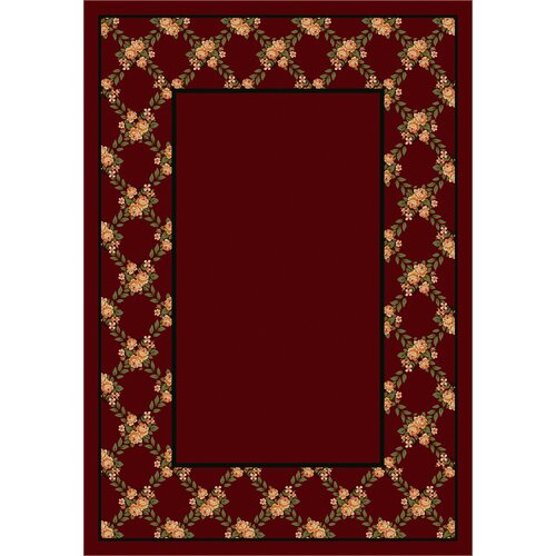 Design Center Rose Bower Cranberry Rug