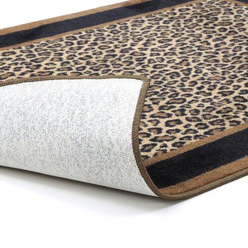 Milliken innovation leopard print zimbala area rug for Leopard print wall to wall carpet