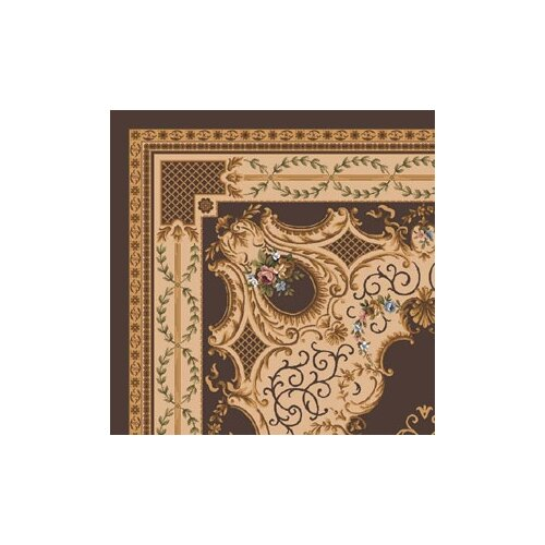 Milliken Pastiche Kashmiran Valette Brown Leather Rug