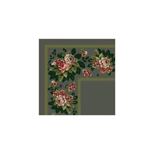 Milliken Design Center Aqua Floral Lace Area Rug
