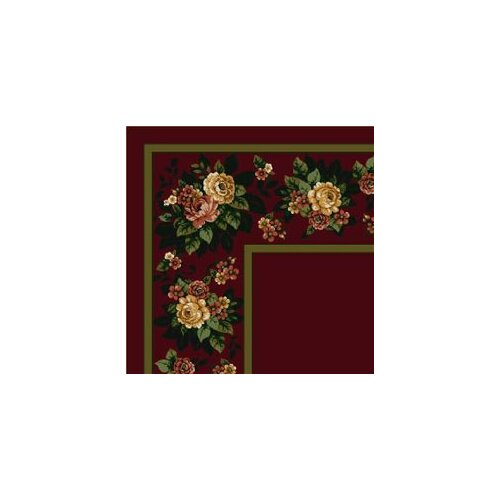 Milliken Design Center Floral Lace Cranberry Rug
