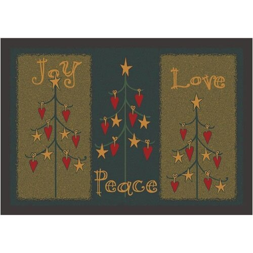 Milliken Winter Seasonal Folktree Winter Novelty Rug