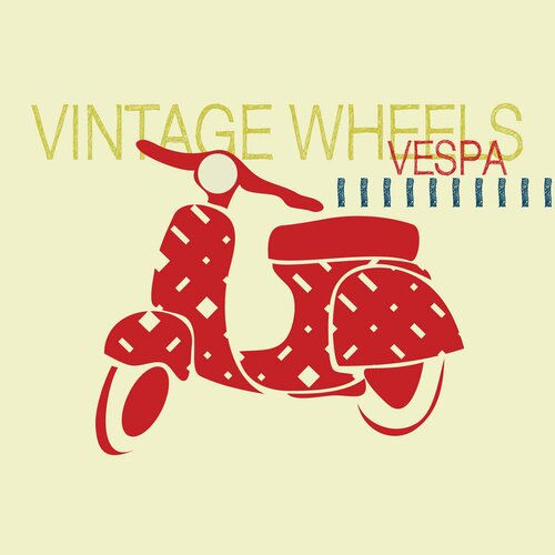 Vintage Vespa Wall Art